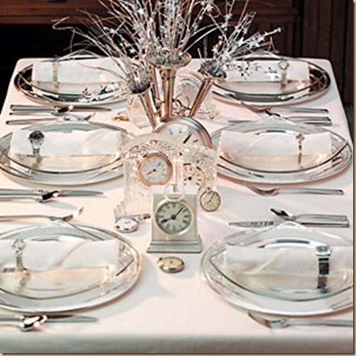 2012 New Years Eve Dinner Party Table Setting Ideas