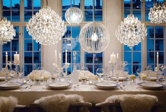 2013 new years eve dinner party table setting ideas - design