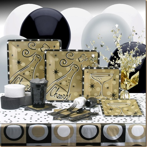 2012 New Years Eve Dinner Party Table Setting Ideas - Design Trends Blog