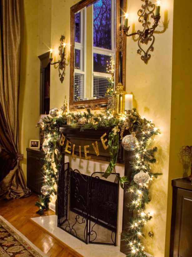 Decorating Ideas > Christmas And Holiday Mantel Designs And Ideas  Design  ~ 053300_Holiday Decorating Ideas Mantel