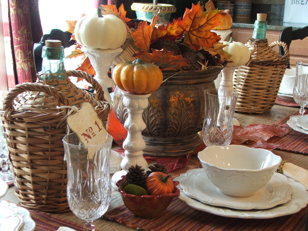 Thanksgiving table setting and centerpiece ideas design