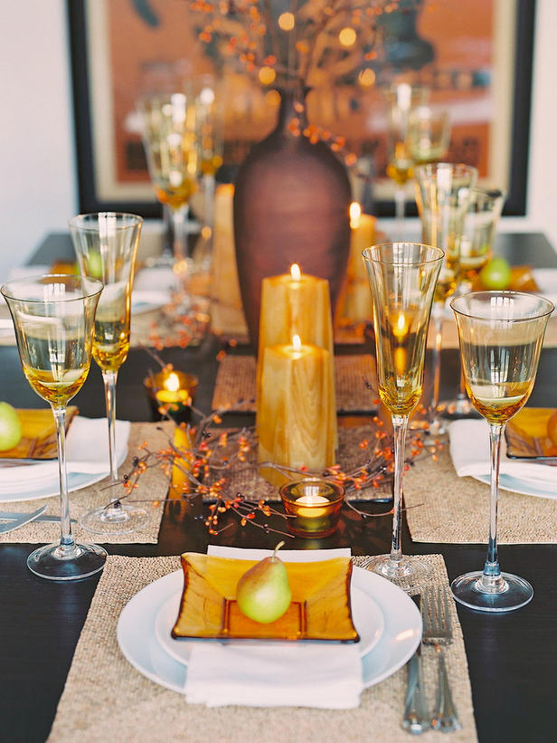 Thanksgiving table setting and centerpiece ideas design - Thanksgiving dinner table decorations ...
