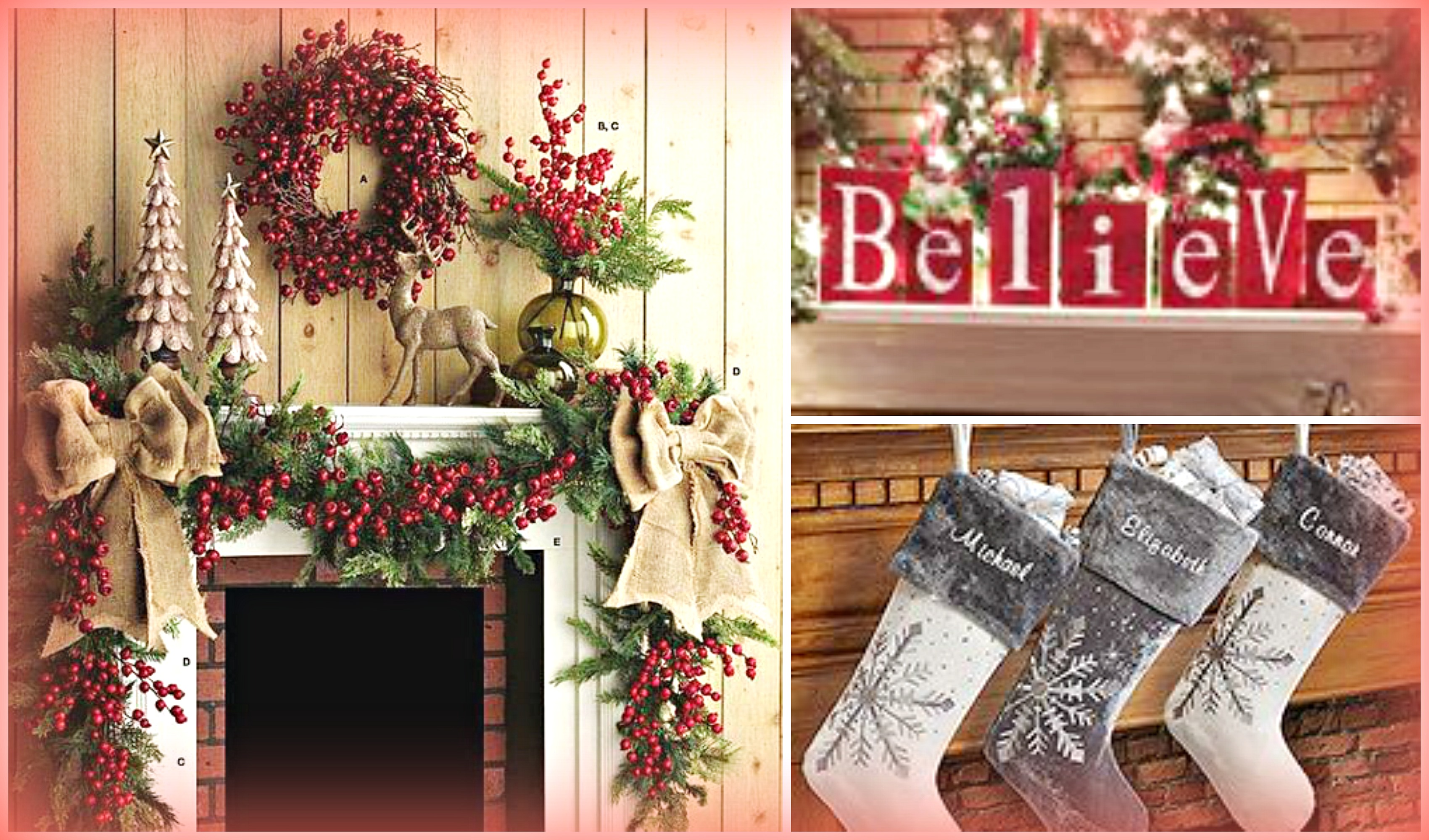 2016 christmas mantel decorating ideas design trends blog for Xmas decoration ideas 2016
