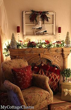 2016-christmas-mantel-decorating-ideas-27