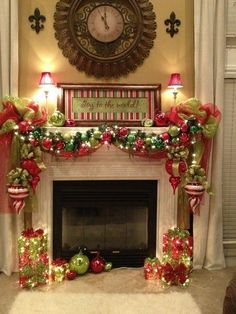 2016 christmas mantel decorating ideas 8