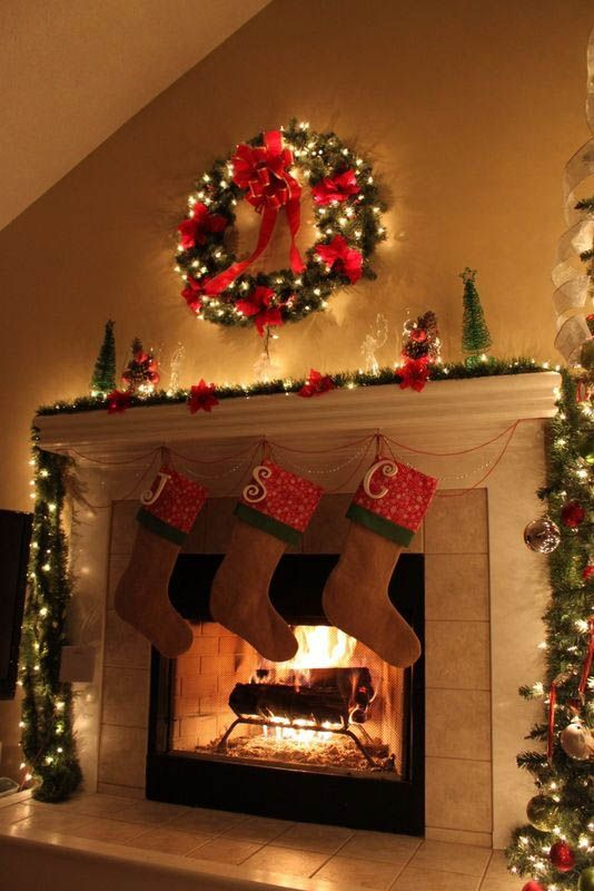 2016 christmas mantel decorating ideas design trends blog for Christmas mantel design ideas