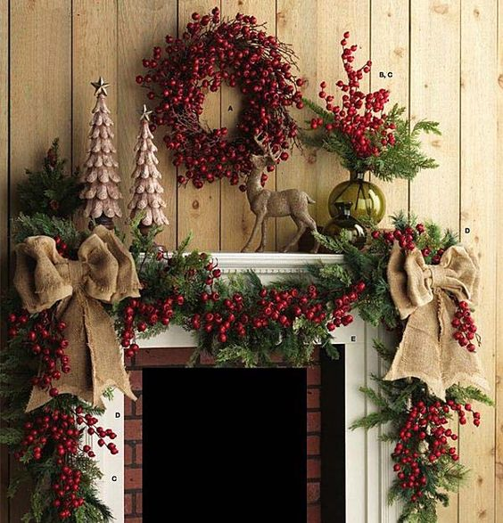 Superbe 2016 Christmas Mantel Decorating Ideas